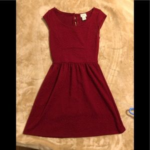 Wine colored skater dress XS